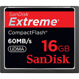 SanDisk Corporation SDCFX-016G-A61 Extreme SDCFX-016G-A61 16GB CompactFlash Card - 400x