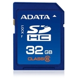 Adata 32 GB Secure Digital High Capacity (SDHC) - 1 Card - Retail ASDH32GCL6-R