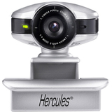 Hercules Dualpix HD Webcam - Silver, Black