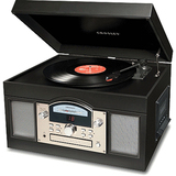 Crosley CR6001A Archiver Black Record/CD/Cassette Turntable CR6001A-BK