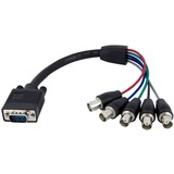 StarTech.com 1 ft Coax HD15 VGA to 5 BNC RGBHV Monitor Cable - VGABNCMF1