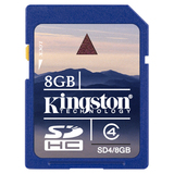 Kingston SD4/8GBCR 8 GB Secure Digital High Capacity (SDHC) - 1 Card SD4/8GBCR