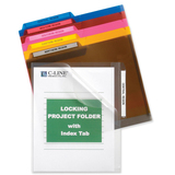 C-line Locking Project Folders with Index Tab