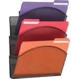 SAF5652BL - Safco Onyx Mesh Triple Letter Size Wall Pocket