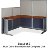 Bush Office-in-an-Hour L-Shaped Desk Box 2 of 2
