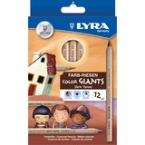 Dixon Lyra Color Giants Skin Tone Colored Pencils