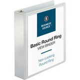 Business Source Round Ring View Binder 09957