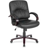 CHAIR;LTHR;MIDBACK;BK