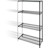 Lorell 4-Tier Wire Rack with Shelves - 69138