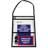 C-Line Stitched Dual Pocket Shop Ticket Holder with Hanging Strap