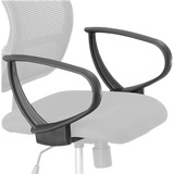 Safco Vue Extended Height Mesh Chair Loop Arms 3396BL