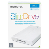 Memorex 500 GB External Hard Drive - 1 Pack - Silver
