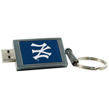 Centon DataStick Keychain MLB New York Yankees Flash Drive - 8 GB