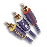 Nxg Composite A/V Cable - 32.81 ft - Blue