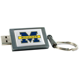 Centon DataStick Keychain Collegiate University of Michigan Flash Drive - 8 GB