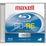 Maxell Blu-ray Rewritable Media - BD-RE - 2x - 25 GB Jewel Case 631014