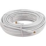 Audiovox Coaxial Network Cable - 50 ft - White