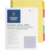 Business Source Insertable Tab Divider 20065