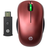 HP WE788AA#ABA Mouse - Optical Wireless - Red
