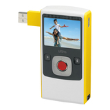 Flip Video U1120YH Digital Camcorder - 2' LCD - CMOS - Yellow