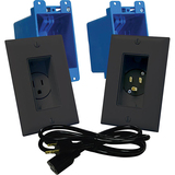 A46-B - Midlite 1-Gang In-wall Power Solution Kit - Black