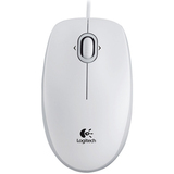 Logitech M110 Mouse - Optical Wired - White