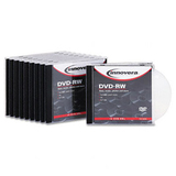 Innovera 46836 DVD Rewritable Media - DVD-RW - 4x - 4.70 GB - 10 Pack Jewel Case