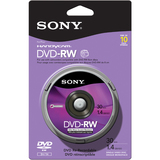 Sony 10DMW30RS2H DVD Rewritable Media - DVD-RW - 2x - 1.40 GB - 10 Pack Spindle