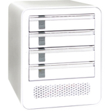 Icy Dock MB561US-4S Storage Enclosure - External - Pearl White - MB561US4S1