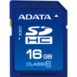 Adata ASDH16GCL10-R 16 GB Secure Digital High Capacity (SDHC) - 1 Card - Retail ASDH16GCL10-R