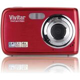 Vivitar ViviCam V7024 7.1 Megapixel Compact Camera - Strawberry