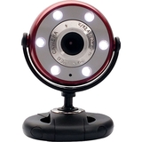 Gear Head WC1200RED Webcam - Red, Black