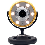 Gear Head WC1400YLW Webcam - Yellow, Black