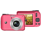 GE A1455 14.1 Megapixel Compact Camera - 6.30 mm-31.50 mm - Red