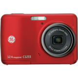 General Imaging C1233 12.4 Megapixel Compact Camera - 5.24 mm-15.72 mm - Red