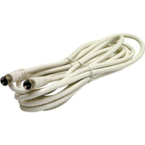 Steren BL-215-012WH Coaxial Network Cable - 12 ft - Patch Cable - White