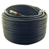 Steren BL-215-300BK Coaxial Network Cable - 100 ft - Patch Cable - Black