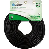 Steren BL-215-400BK Coaxial Network Cable - 100 ft - Patch Cable - Black