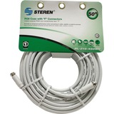 Steren BL-215-450WH Coaxial Network Cable - 50 ft - Patch Cable - Whit - BL215450WH