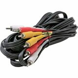 Steren BL-216-306BK Composite A/V Cable - 72'