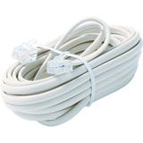 Steren BL-324-015WH Telephone Network Cable - 15 ft - White