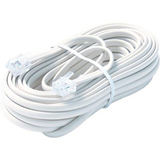 Steren BL-324-050WH Telephone Network Cable - 50 ft - White