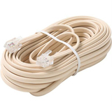Steren BL-324-100IV Telephone Network Cable - 100 ft - Ivory