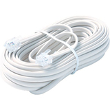 Steren BL-324-100WH Telephone Network Cable - 100 ft - White