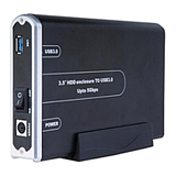Sabrent Storage Enclosure - External - Black - EC3US35