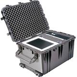 "Pelican 1660 Shipping Box with Foam - Internal Dimensions: 28.20"" Length x 19.66"" Width x 17.63"" Depth - External Dimensions: 31.6"" Length x 23"" Width x 19.5"" Depth - Copolymer - Black - Military"