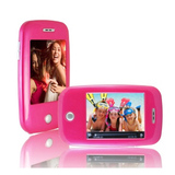 XOVision EM608VID 8 GB Pink Flash Portable Media Player