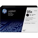 HP 05X (CE505XD) 2-pack High Yield Black Original LaserJet Toner Cartridges