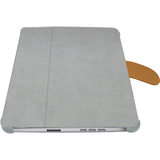 Macally BOOKSTAND Tablet PC Case - Suede - Gray