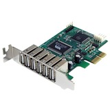 StarTech.com 7 Port PCIe Low Profile USB 2.0 Adapter Card